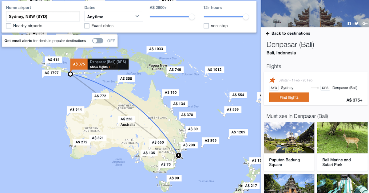 KAYAK Explore - Search for Cheap Flights to Anywhere