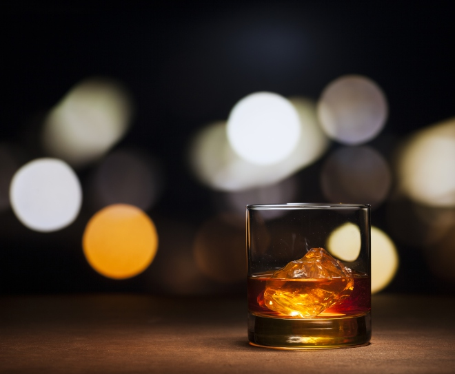 Whisky. On the rocks.