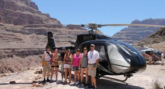 Passeio de helicóptero no Grand Canyon pela All American