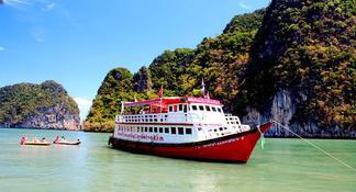 Excursión a la cueva marina de la bahía de Phang Nga, desde Phuket con almuerzo y cena