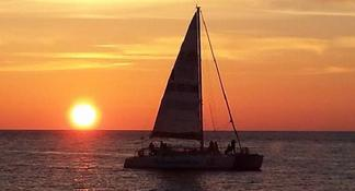 Sunset Catamaran Sail on The Privateer