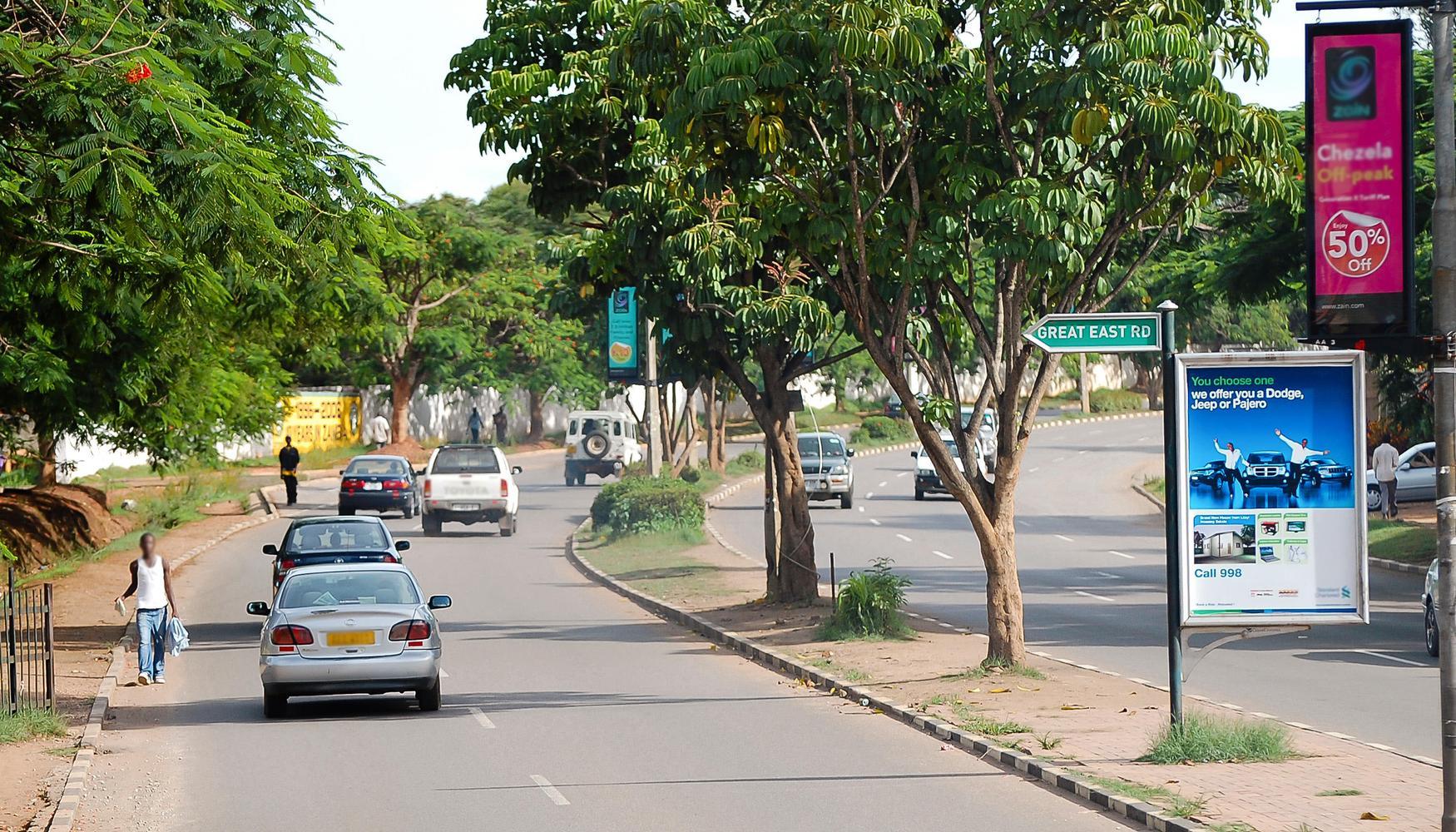 Mietwagen am Flughafen Lusaka