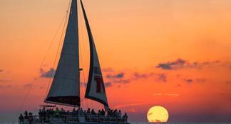 Sunset Catamaran Sail on The Privateer