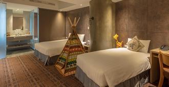 Roaders Hotel Zhonghua - טאיפיי - חדר שינה