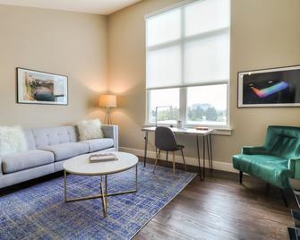 New! Designer Top Floor 1BR Urban Flat @fostercity - Foster City - Huiskamer