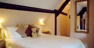 The Lamb Inn Great Rissington - צ'לטנהאם - חדר שינה