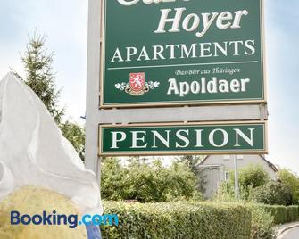 Cafe Hoyer Pension und Appartements - Apolda - Building