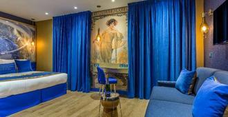 Hotel Les Bulles De Paris - פריז - חדר שינה