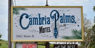 Cambria Palms Motel - Cambria