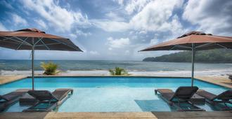 Pagua Bay House Oceanfront Cabanas - Marigot - Pool