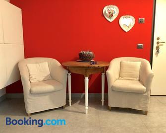 Appartamento Vista Lago Red & Grey - Mezzegra - Living room