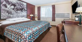 Super 8 by Wyndham Kansas City at Barry Road/Airport - Kansas City - Schlafzimmer