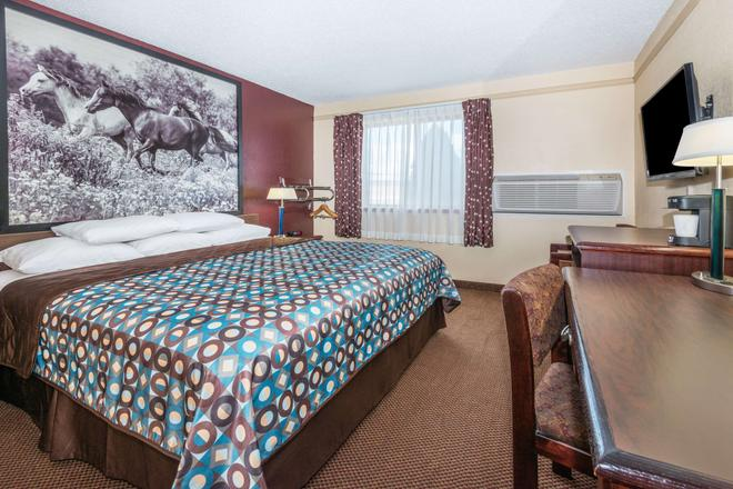 Super 8 by Wyndham Kansas City at Barry Road/Airport - Kansas City - Bedroom
