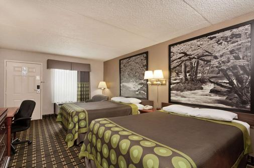 Super 8 by Wyndham Knoxville West/Farragut - Knoxville - Bedroom