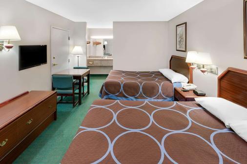 Super 8 by Wyndham Ocean Springs Biloxi - Ocean Springs - Bedroom