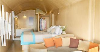 La Perla Villas And Suites - Oia - Camera da letto