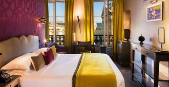 Hotel Les Dames Du Panthéon - פריז - חדר שינה