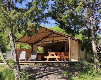 Camping des vignes - Engraviès - Patio