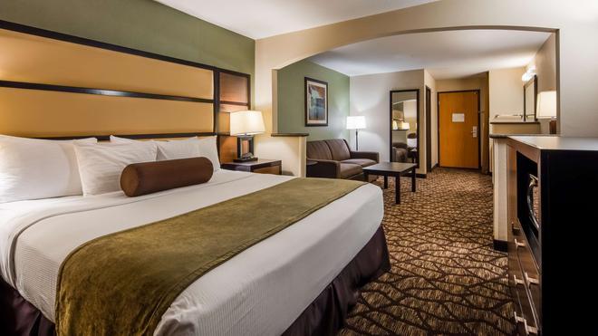 貝斯特韋斯特普拉斯溫哥華商城博士套房酒店 - 溫哥華 - 溫哥華 - 臥室