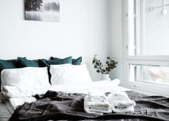 2ndhomes Esplanadi Apartment with Sauna - Tampere - Slaapkamer