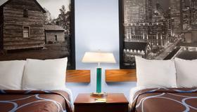 Super 8 by Wyndham Charlotte University - Charlotte - Bedroom