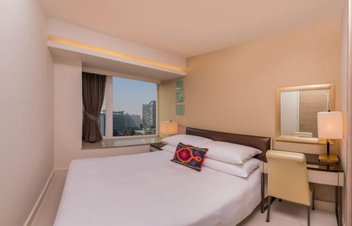Kowloon Harbourfront Hotel - Hongkong - Schlafzimmer
