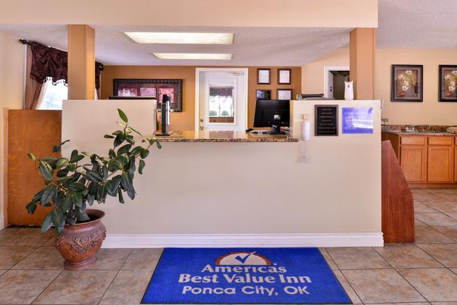 Americas Best Value Inn Ponca City - Ponca City - Recepción