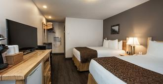 Swiss Chalet Motel - Revelstoke - Phòng ngủ