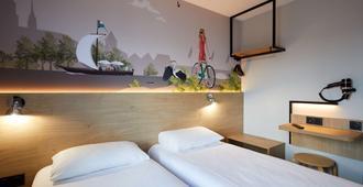 Kyriad Direct Orleans - La Chapelle St Mesmin - La Chapelle-Saint-Mesmin - Bedroom