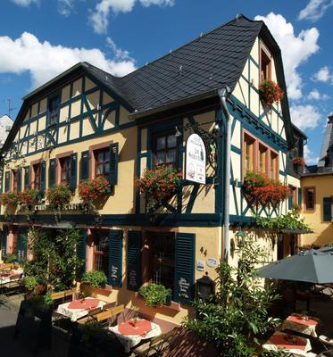 Historisches Hotel Weinrestaurant Zum Grünen Kranz - Rudesheim am Rhein - Rakennus