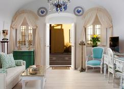 Olive Cave Houses - Firostefani - Sala de estar