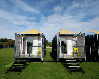Caboose & Co - at The Hay Festival - Kington - Building