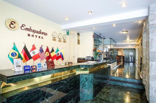 Embajadores Hotel - Lima - Vastaanotto