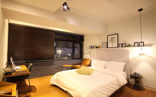 西面獵犬酒店 - 釜山 - 臥室