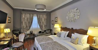 Hôtel de la Cigogne - ג'נבה - חדר שינה