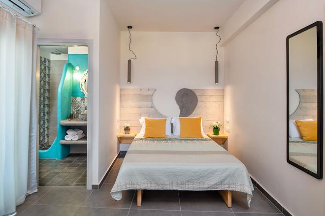 Afrodete Hotel - Firostefani - Phòng ngủ
