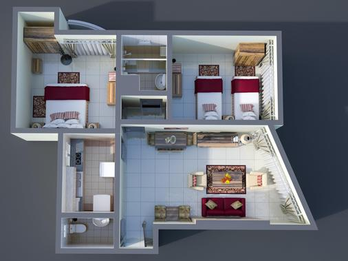 Ewan Tower Hotel Apartments - Ajman - Floorplan