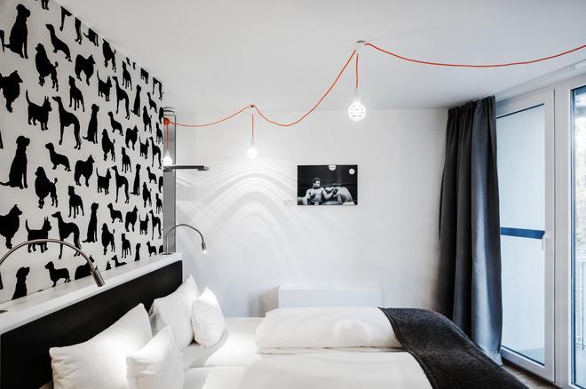 V 酒店 - 波恩 - 臥室