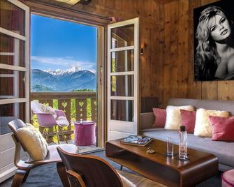 Les Roches Hotel & Spa - Cordon - Wohnzimmer