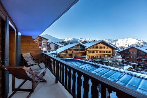 Hotel Farinet - Bagnes - Balkon