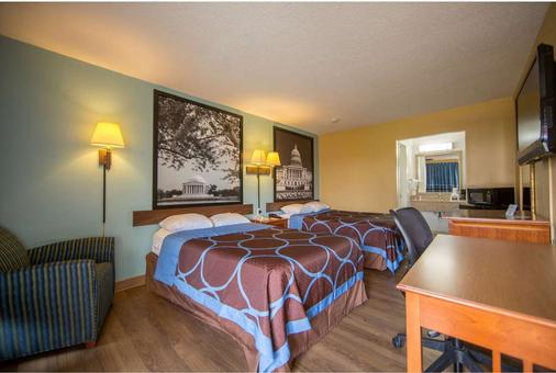 Super 8 by Wyndham Alexandria/Washington D.C. Area - Alexandria - Schlafzimmer
