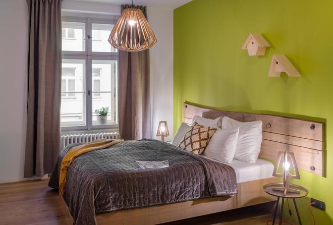 布拉格四棵樹公寓式酒店 - 布拉格 - 臥室