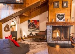 Les Monts Charvin - Courchevel - Sala de estar