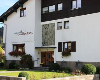 Gästehaus Meusburger - Bezau - Gebouw