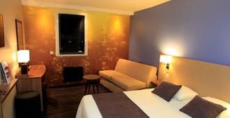 The Originals Boutique, Hotel Qualys Reims-Tinqueux - Tinqueux - Schlafzimmer