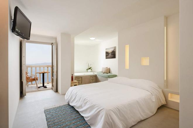 Panorama Boutique Hotel - Fira - Schlafzimmer
