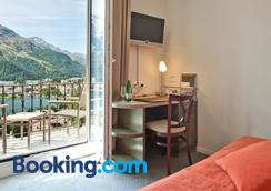 施維澤霍夫瑞士優質酒店 - 聖莫里茲 - 聖莫里茨 - 臥室