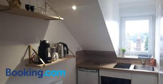 L'Essentiel, studio cosy, quartier Anatole France, CHU - Rennes - Kitchen