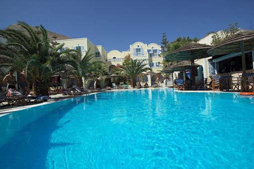 澤費羅斯酒店 - 聖托里尼 - 卡馬利 - 游泳池