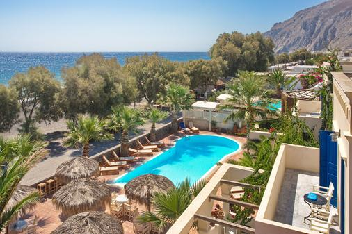 船屋影院和酒店 - 聖托里尼 - 卡馬利 - 游泳池